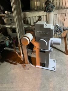 Air cyclinder from power boiler replacement