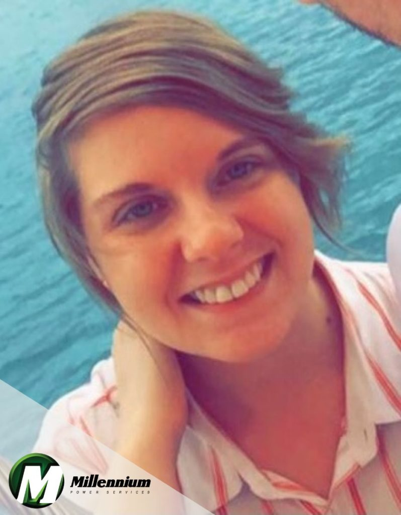 Samantha Hoynoski of Millennium Power Services in Westfield MA, Millennium Power Services Production Manager